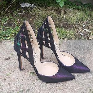 Alejandro Ingelmo Metallic Caged Stilettos Size 37